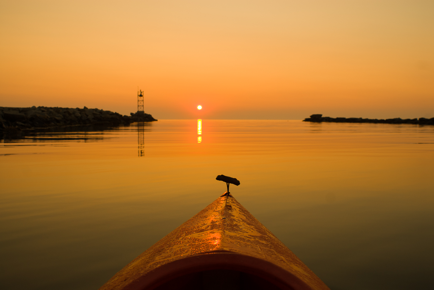 Pond, Kayak, Sunrise, Alison Shaw