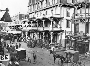 The grand old Metropolitan Hotel, once located in on the corner of Kennebec and Park Avenues, Oak Bluffs.
