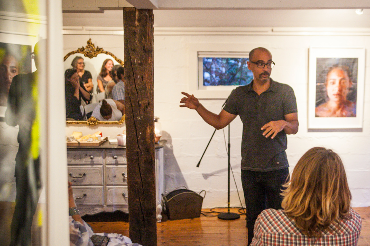 Junot Díaz and John Forté make for an intimate evening at Gallery Josephine