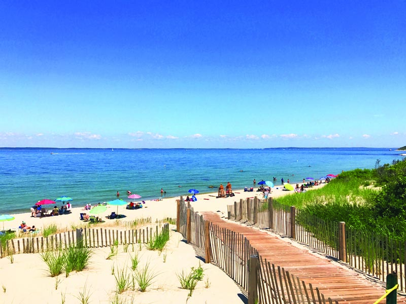 Shoulder-season your way onto Lambert's Cove Beach