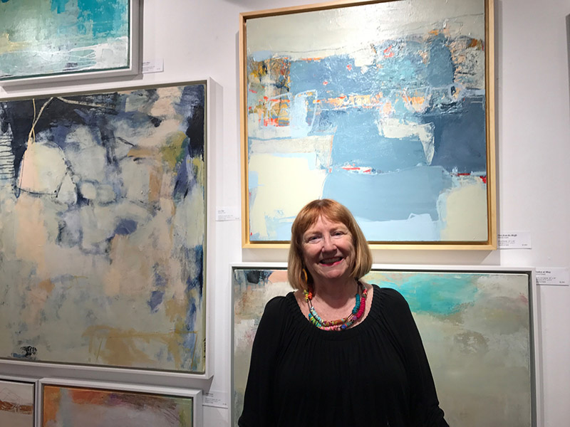 The abstract art of Theresa Girard at the Louisa Gould gallery