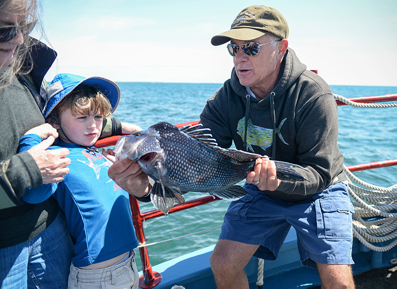 A day aboard the Skipper fishing charter