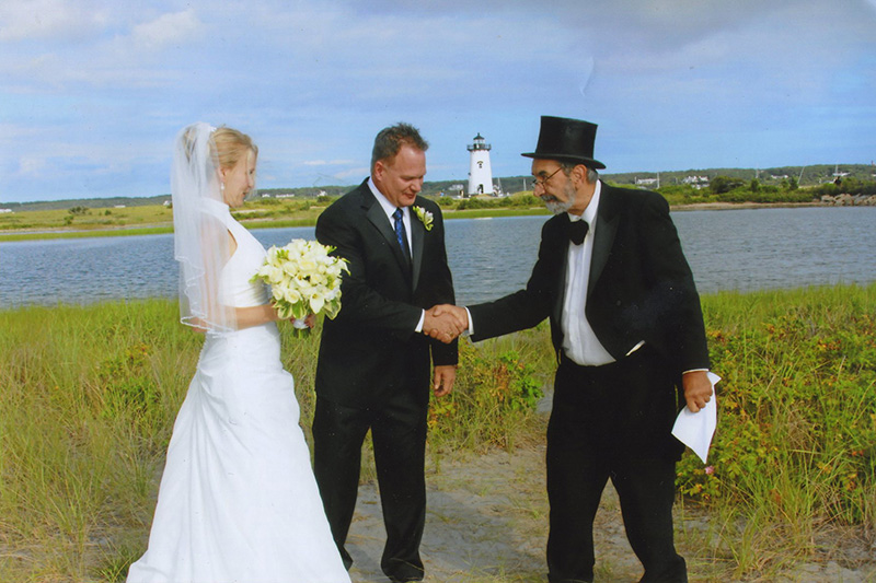 The Island's cheapest, and most memorable wedding officiant