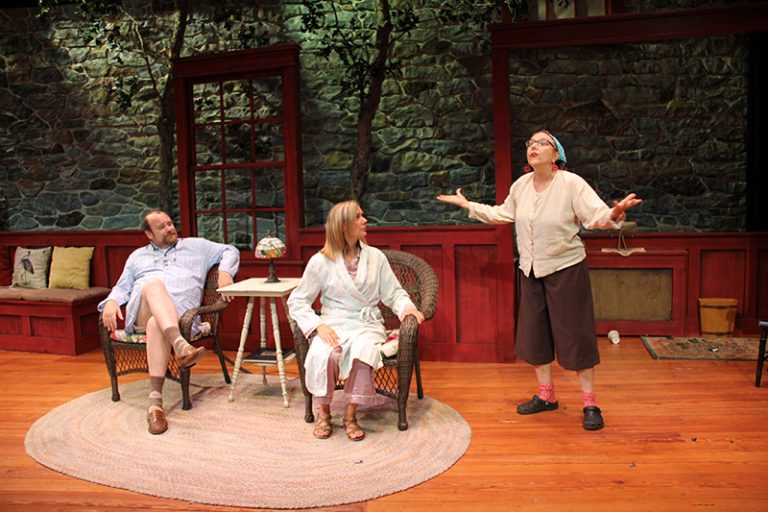 'Vanya and Sonia and Masha and Spike' onstage at the M.V. Playhouse